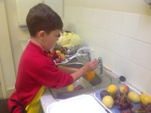 Washing the fruit