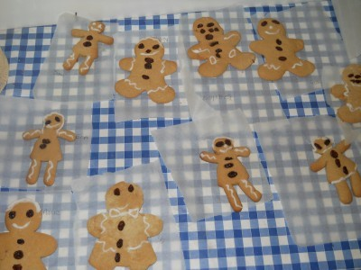 Making gingerbread men and examining how ingredients change.